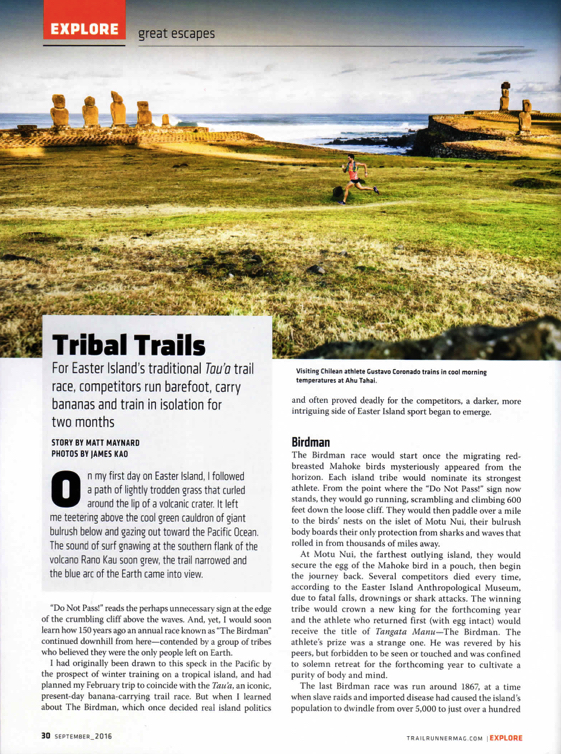Tribal Trail Article 1st page